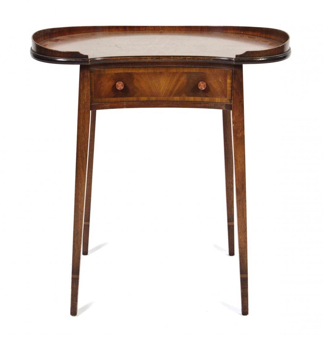 A Georgian Style Mahogany Work Table, Height 26 1/4 x