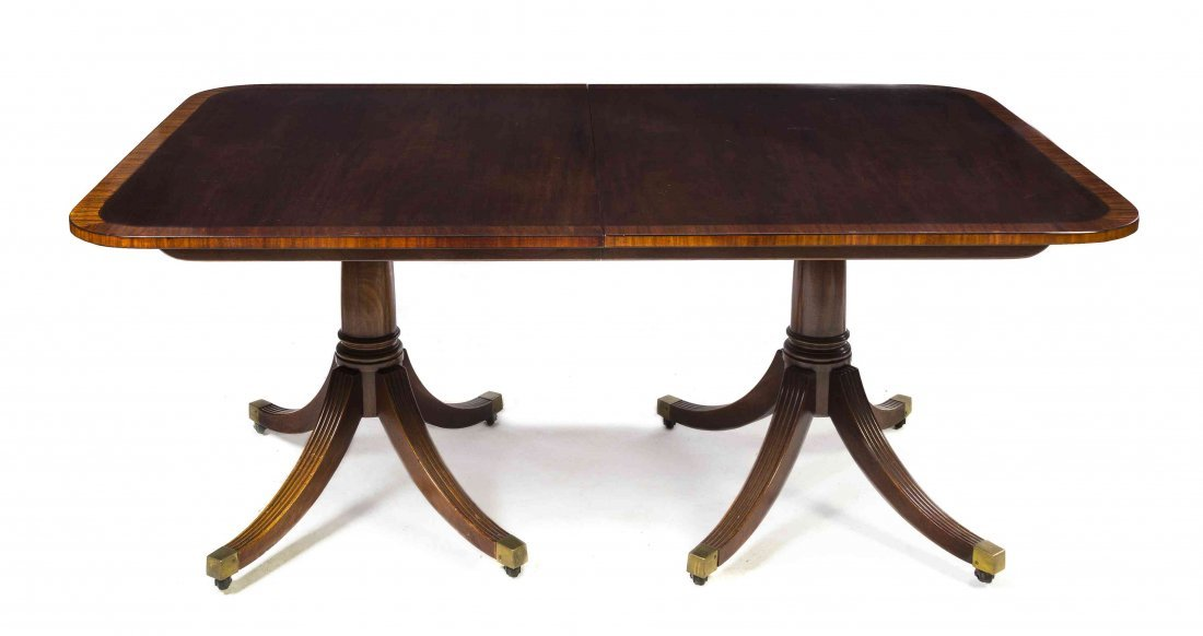 An American Georgian Style Extension Table, Baker,
