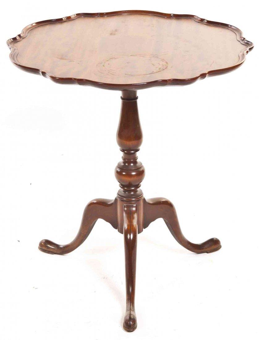 A Georgian Style Mahogany Tea Table, Height 27 1/4 x