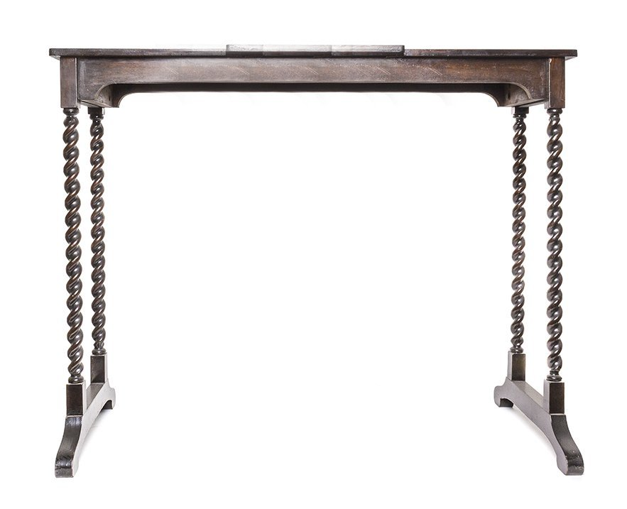 A William and Mary Style Mahogany Book Stand, Height 27