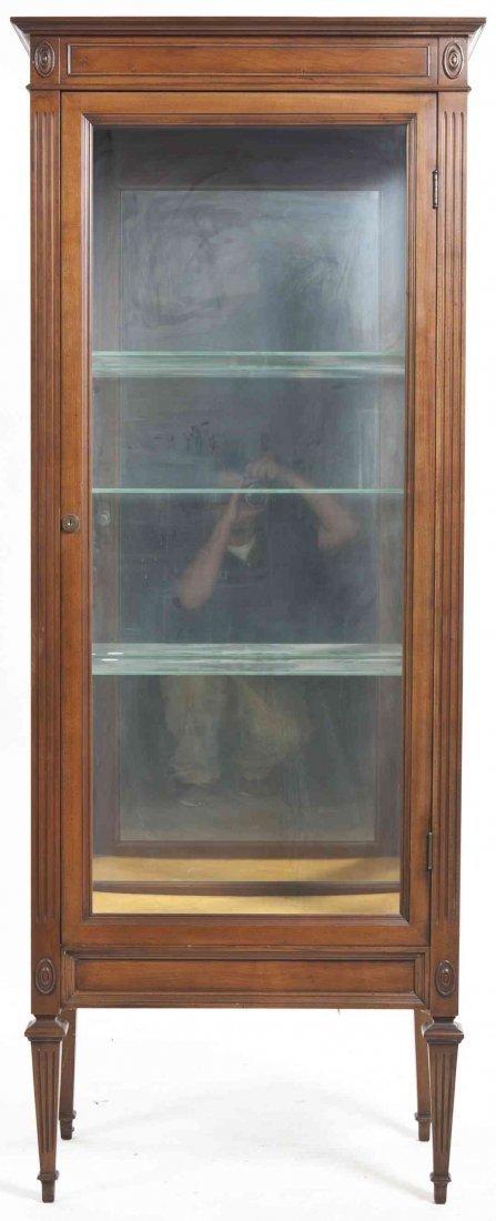 A Directoire Style Walnut Vitrine, Height 65 1/2 x