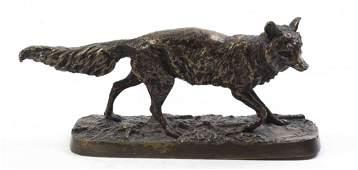 A French Bronze Animalier Figure Pierre Jules Mene