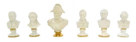 A Collection of Five Royal Vienna Bisque Busts Height