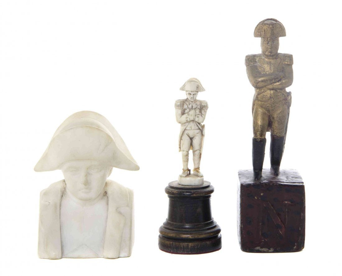 Three Carved Napoleonic Figures, Height of tallest