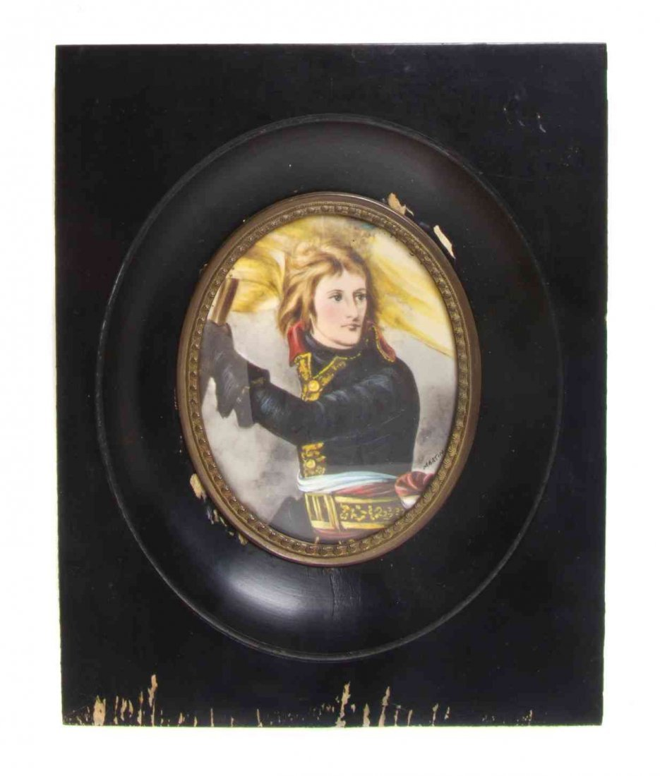 A Continental Portrait Miniature on Ivory, Height 3 1/4