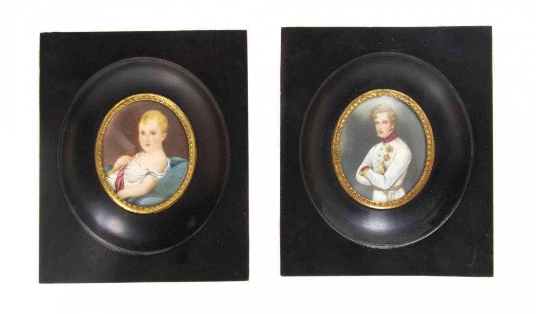 Two Continental Napoleonic Portrait Miniatures, Height