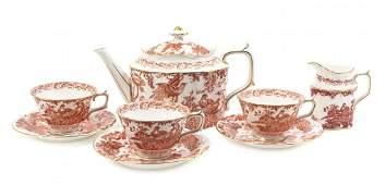 A Royal Crown Derby Porcelain Tea Service, Width of