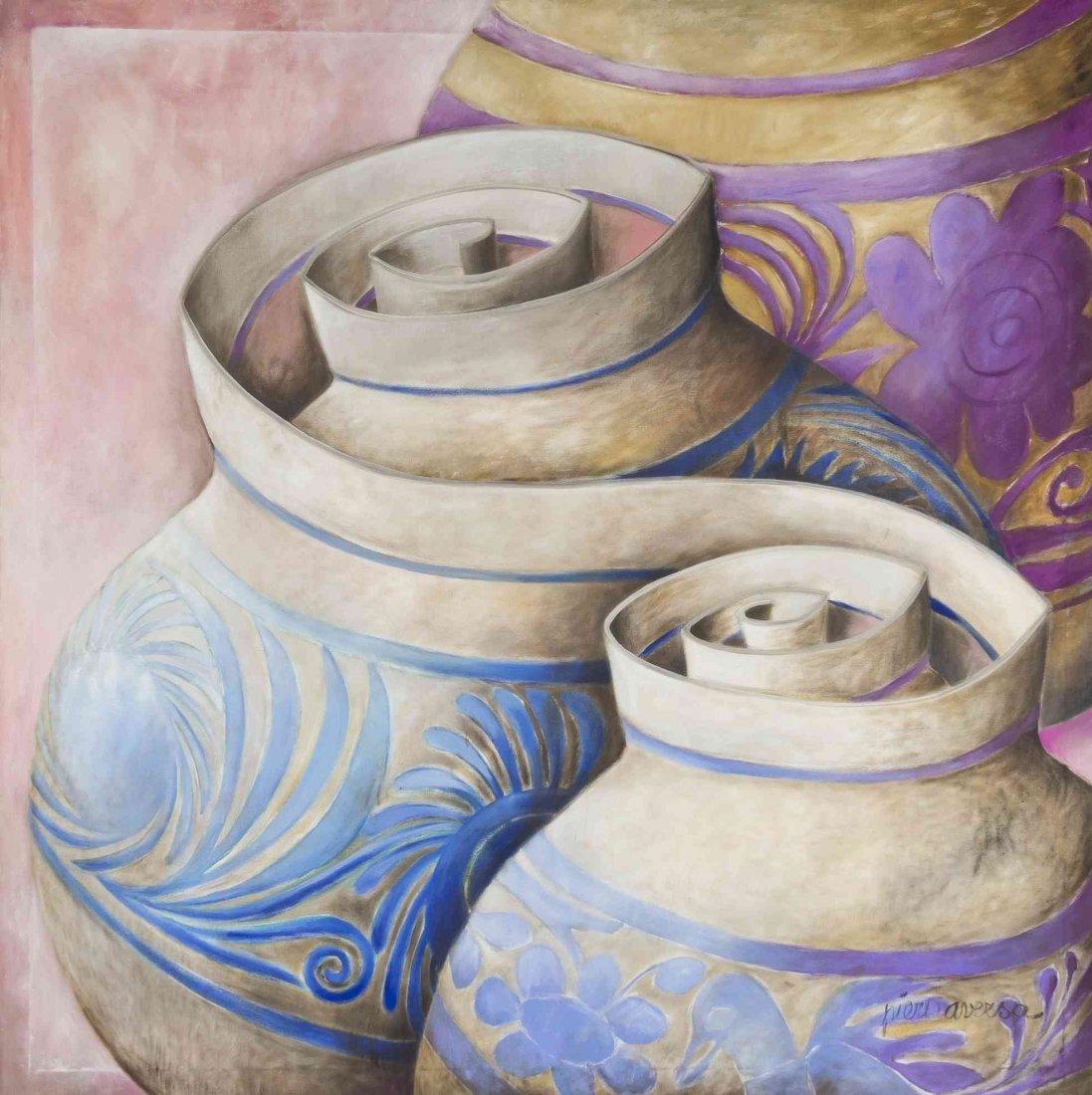 Piero Aversa, (Italian, 1928-1990), Stylized Urns