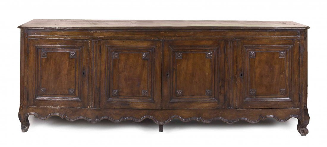 A Louis XV Provincial Walnut Side Cabinet, Height 41 x
