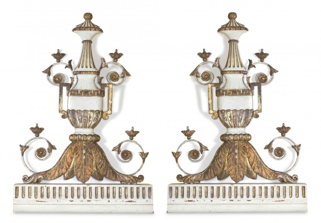 A Pair of Italian Neoclassical Architectural Ornaments,