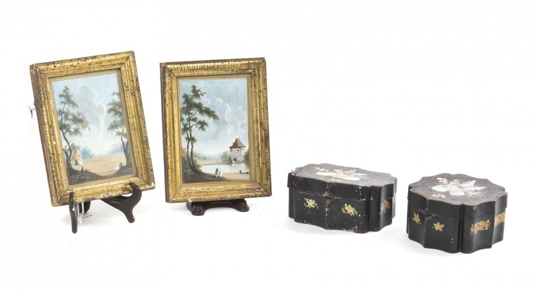 Four Anglo-Colonial Articles, Width of first tea caddy