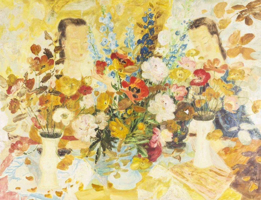 Le Pho, (French, 1907-2001), Marche aux Fleurs