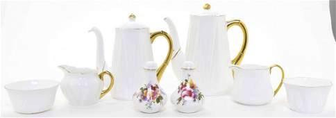 Six Shelley Porcelain Tea Articles, Height of tallest 6