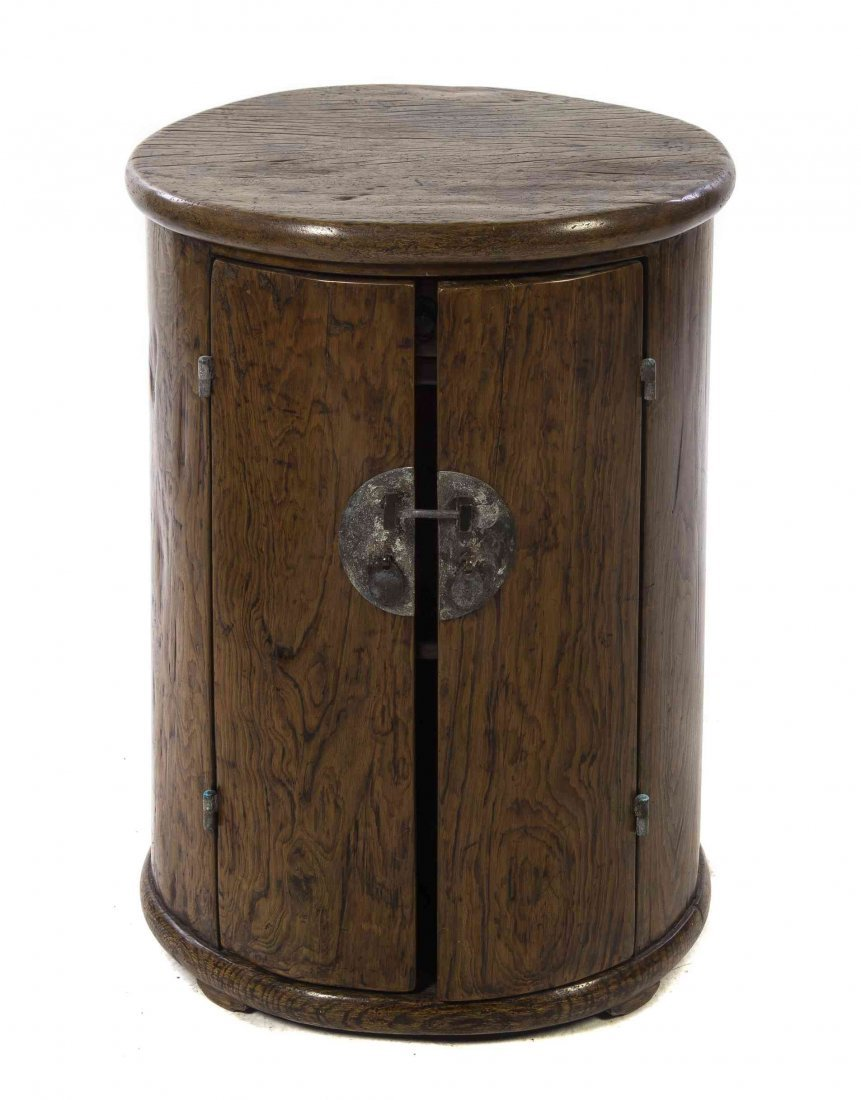 A Chinese Hardwood Side Table, Height 28 1/2 x diameter