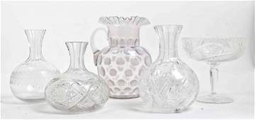Four Cut Glass Articles, Height of tallest 9 1/2