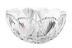 A Large American Brilliant Period Cut Glass Punch Bowl