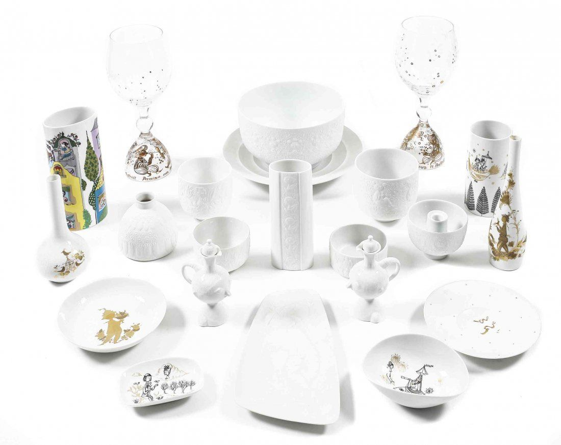 A Collection of Rosenthal Porcelain, Bjorn Wiinblad,