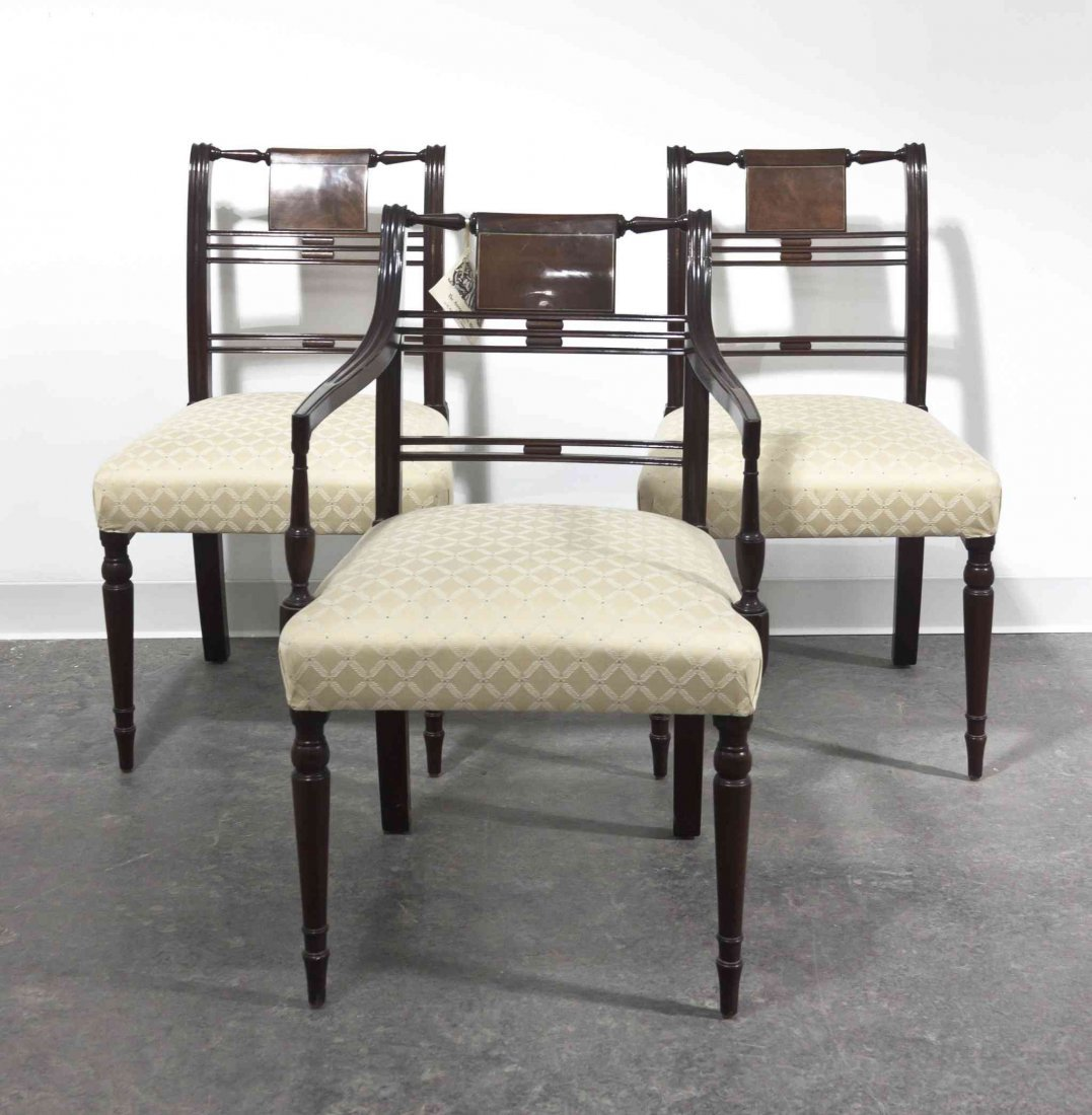 A Set of Six Regency Style Mahogany Chairs, Kittinger,