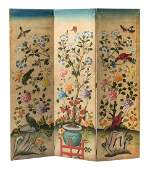 A Continental Canvas ThreePanel Floor Screen Height