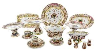 A Collection of Capodimonte Porcelain Table Articles