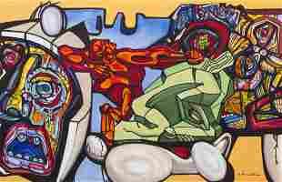 Ernst Neizvestny, (Russian, b. 1926), Red Robot, 2001