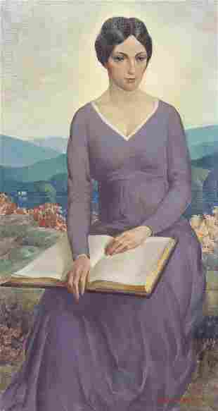 Arthur Meltzer, (American, 1893-1989), Woman with a