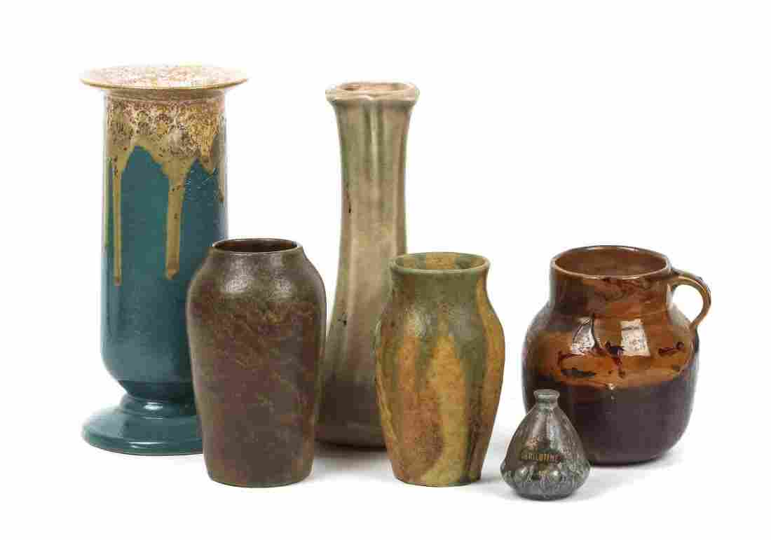 A Collection of Six Art Pottery Articles, Height of