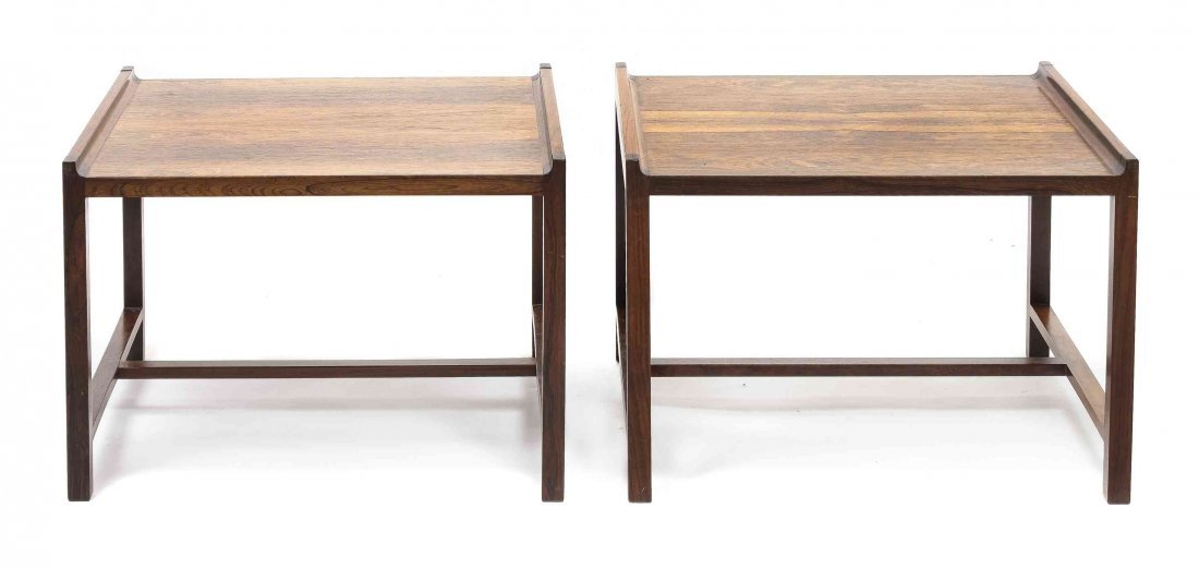 A Pair of Brode Blindheim Rosewood Side Tables, Height