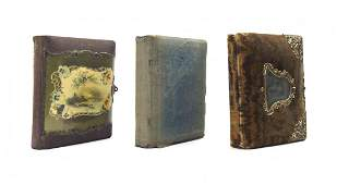 Three Victorian Photograph Albums, Height of tallest 11