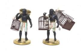 Two Blackamoor Figures, Height of taller 4 7/8 inches.