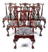 A Set of Ten George III Style Mahogany Dining Chairs,