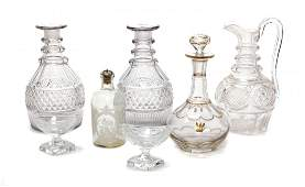 A Collection of Cut Glass Articles, Height of tallest 9