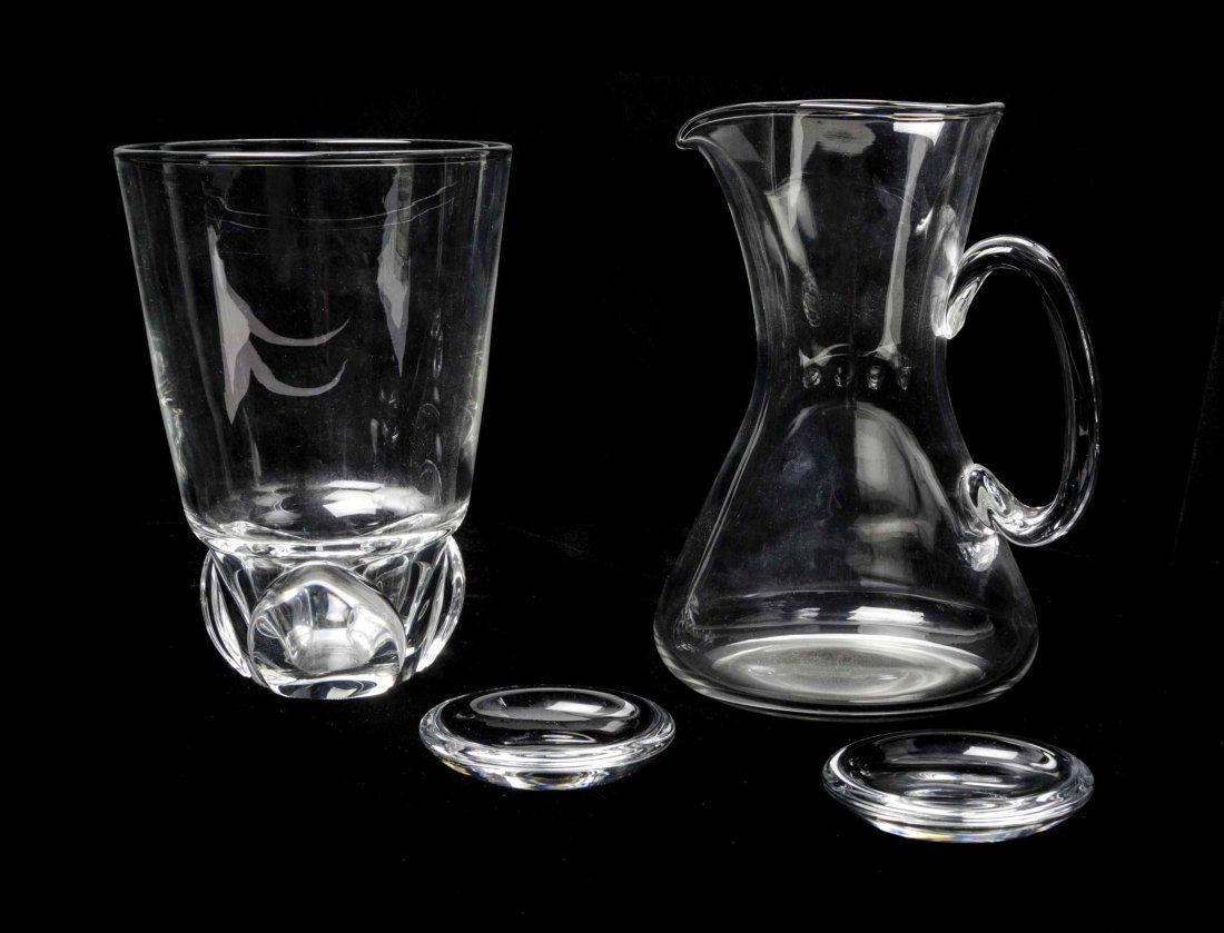 Four Steuben Glass Articles, Height of tallest 8 1/4