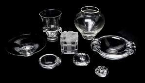 Seven Steuben Glass Articles, Height of tallest 6 3/8