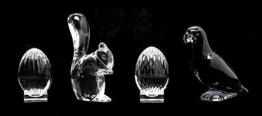 Four Baccarat Glass Table Articles, Height of tallest 4