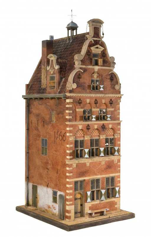A 17th Century Dutch Style Canal House Height 57 X