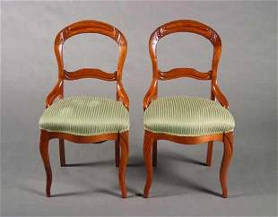 A Pair of Victorian Mahogany Side Chairs.