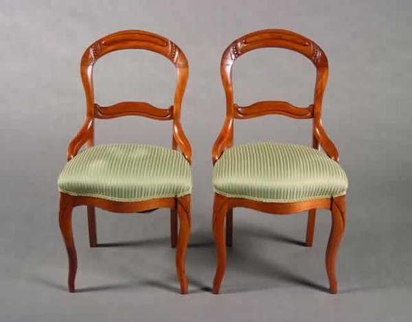 6: A Pair of Victorian Mahogany Side Chairs.