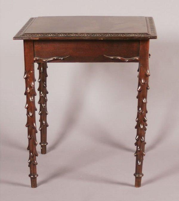 13: A Victorian Mahogany Side Table,