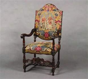 A Charles II Style Needlepoint Upholstere