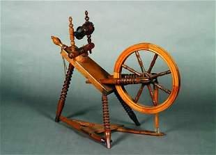 An Oak Spinning Wheel