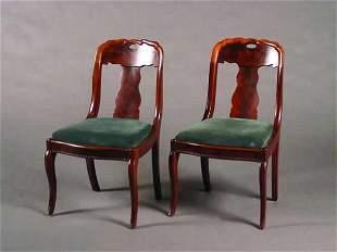 A Set of Six Mahogany Side Chairs,