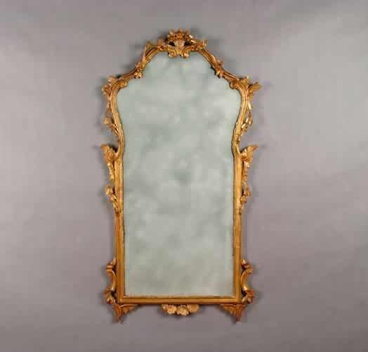 19: A Georgian Style Gilt Mirror,