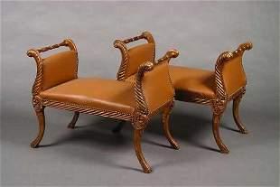 A Pair of Gilt-Wood Window Seats,