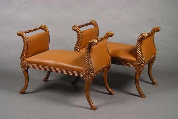 20: A Pair of Gilt-Wood Window Seats,