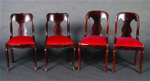 A Group of Four Victorian Mahogany Side C