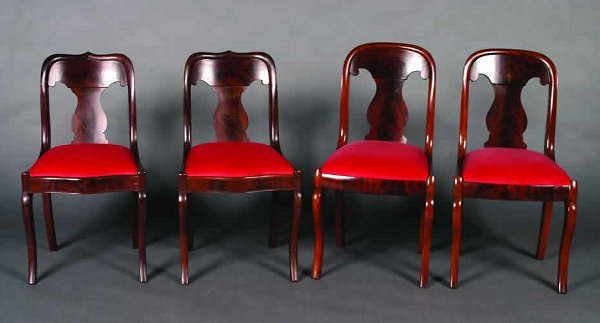 21: A Group of Four Victorian Mahogany Side C