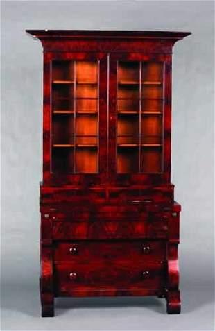 A Mahogany Secretary Bookcase,