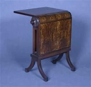 A Mahogany and Burlwood Metamorphic Table