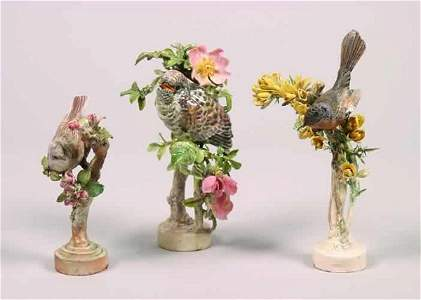 256: Three Porcelain Bird Figures,